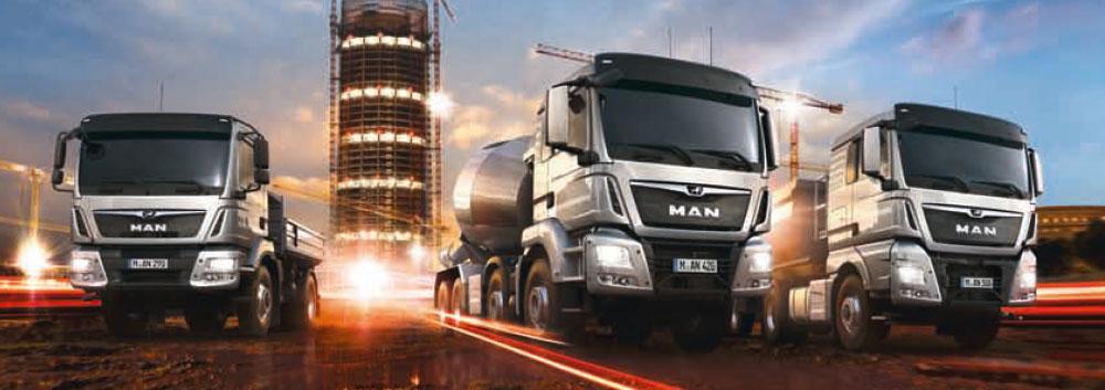Eurodiesel Man Fahrzeuge Baustellen